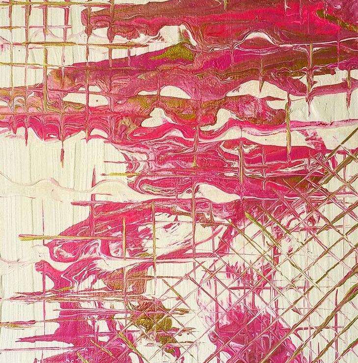 wondARTful   Ep1: Painting Tutorial: Pink/Gold Fluid Pour