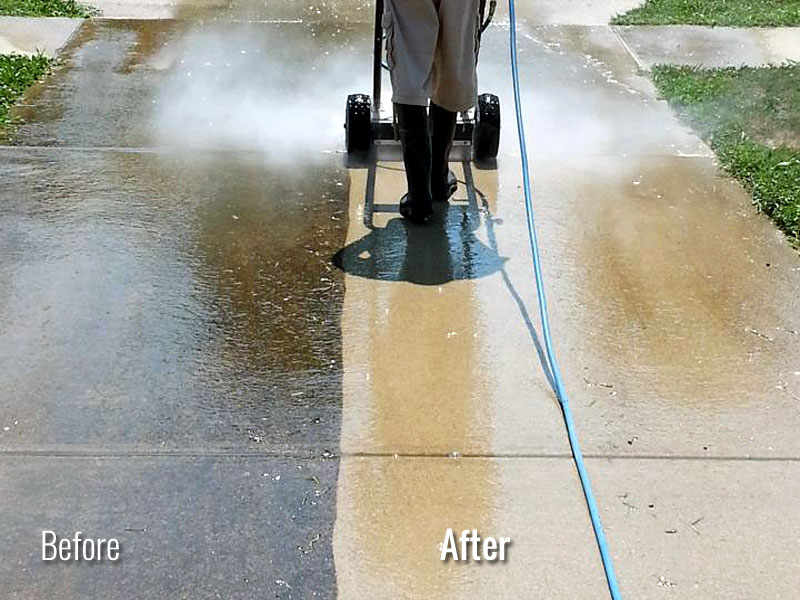 Driveway Power Washing in Louisville KY