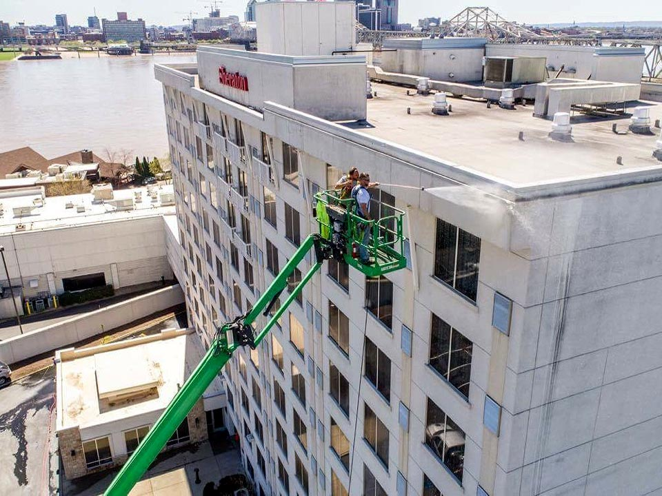 Building Exterior Soft Washing in Louisville KY