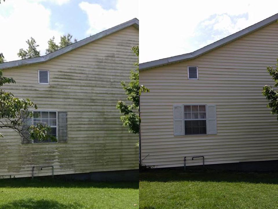 Vinyl Siding Soft Washing in Louisville KY