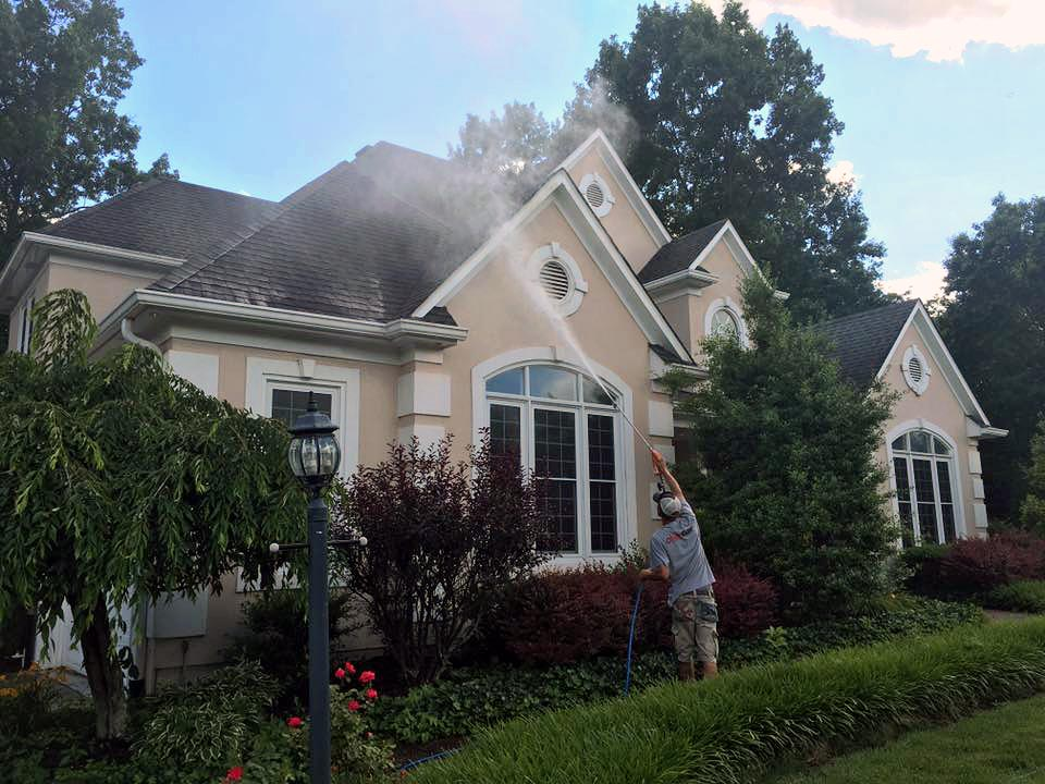 Stucco Siding Soft Washing in Louisville KY