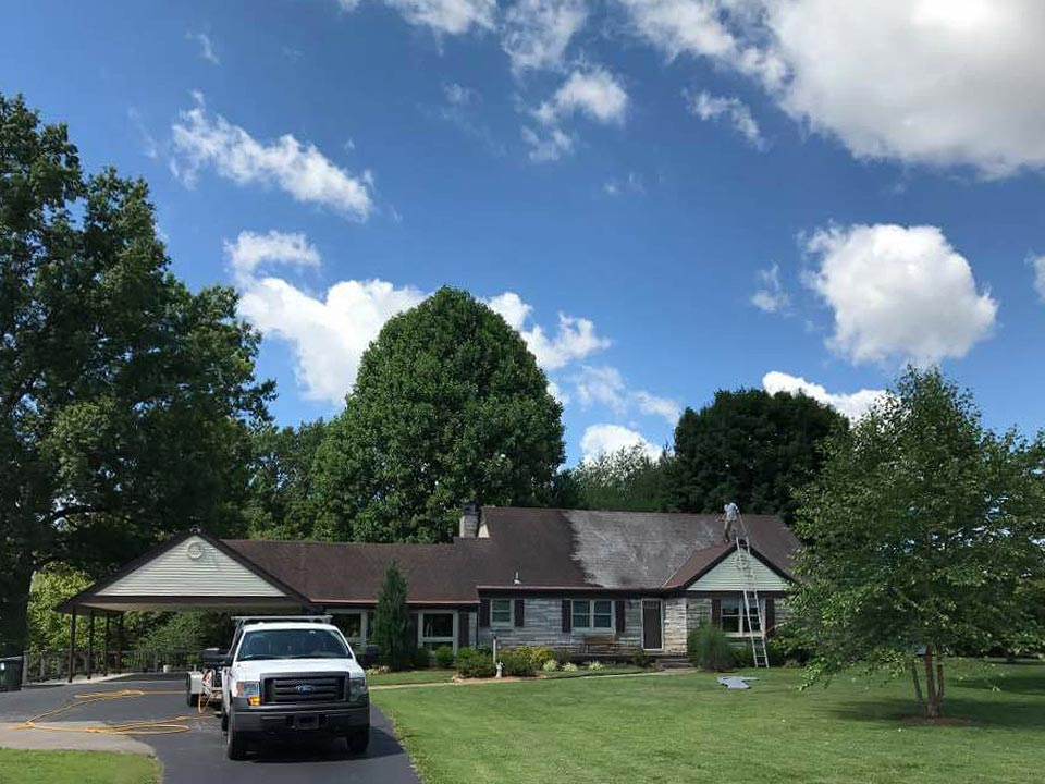 Soft Wash Roof Cleaning in Louisville KY