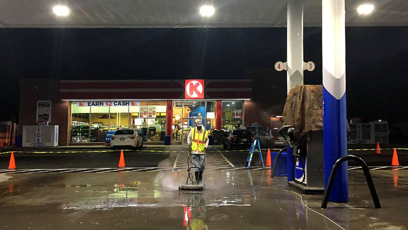 Gas Station Power Washing in Louisville KY