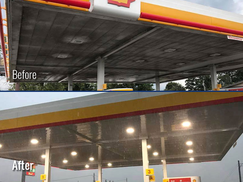Gas Station Canopy Cleaning in Louisville KY