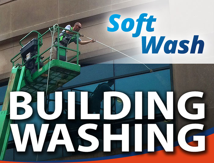 Building Exterior Soft Pressure Washing in Louisville KY