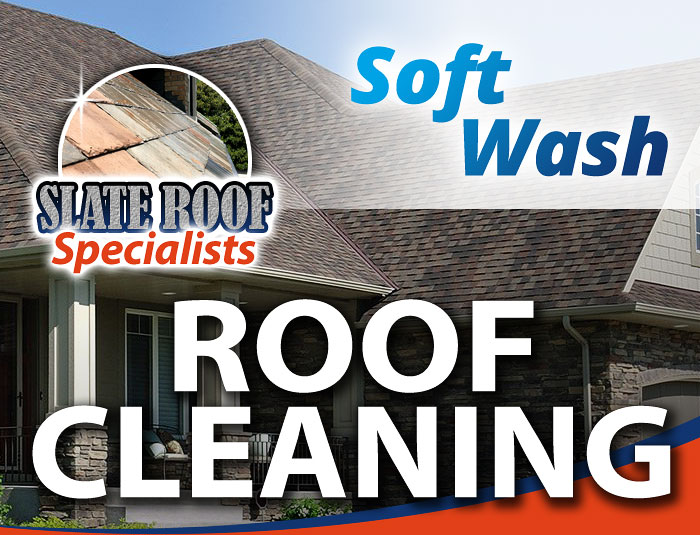 Soft Wash Slate Roof Cleaning in Louisville KY
