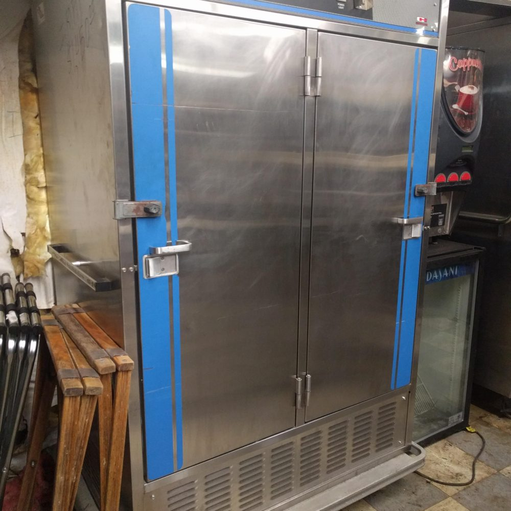 front view Used Carter-Hoffmann Mobile Catering Fridge