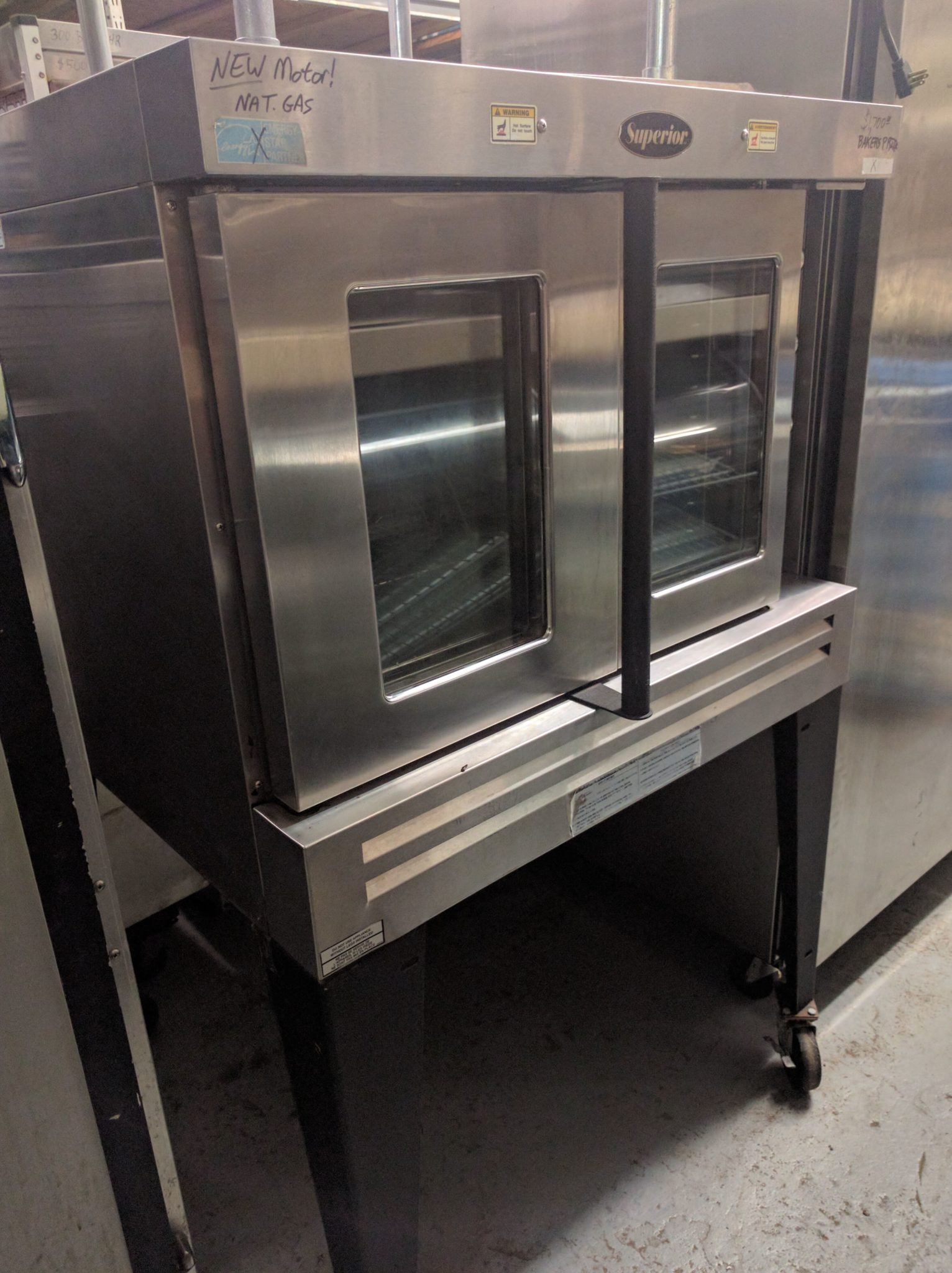 front view Used Bakers Pride Convection Oven
