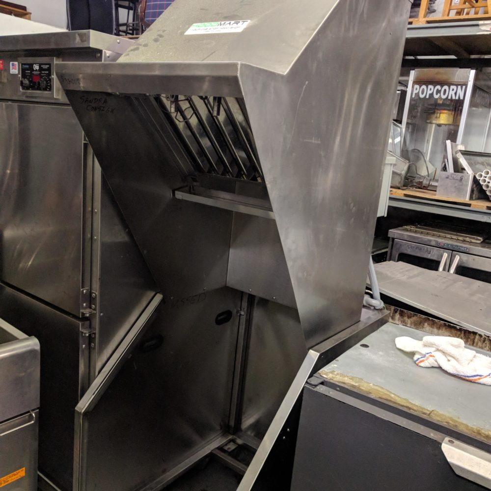 side view USED Hood Mart Self-contained Electric Hood