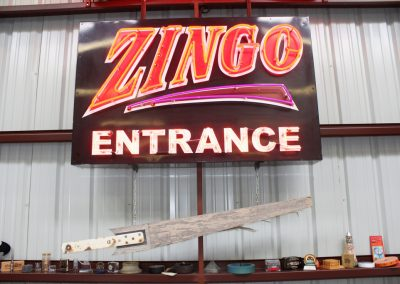 Artifacts Zingo Entrance Sign