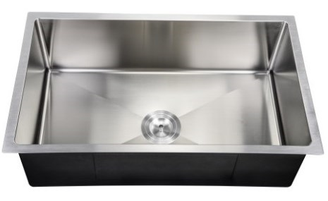 "PerfecFlo™ 10"" Deep Small Radius Sink Drain"