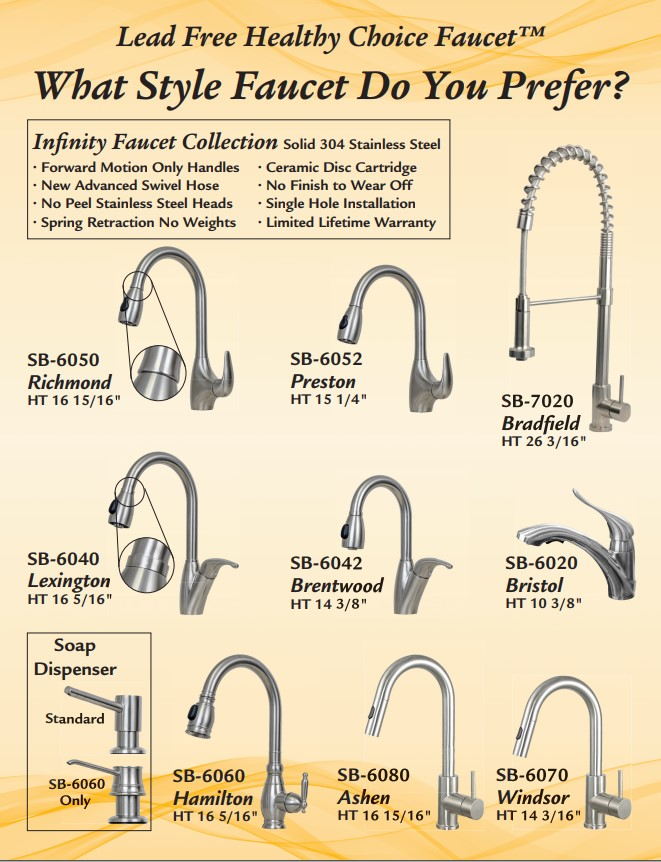 Infinity Solid Stainless Lead Free Healthy Choice Faucet