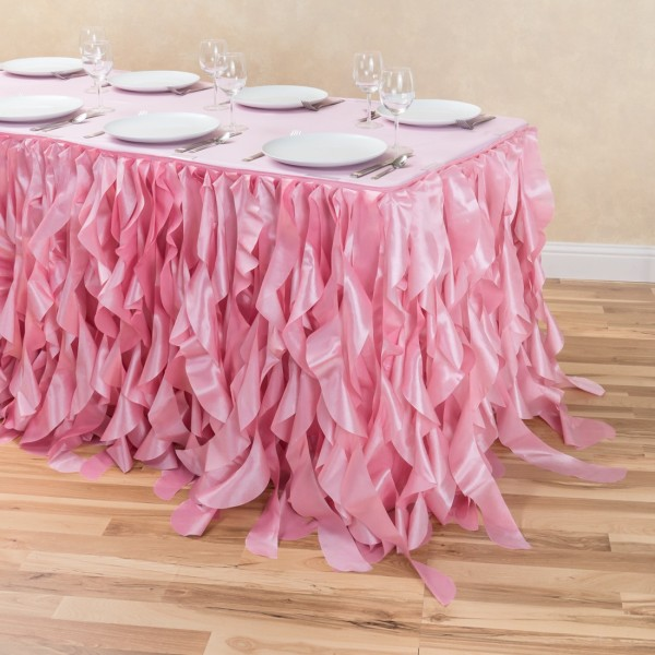 pink willow table skirt