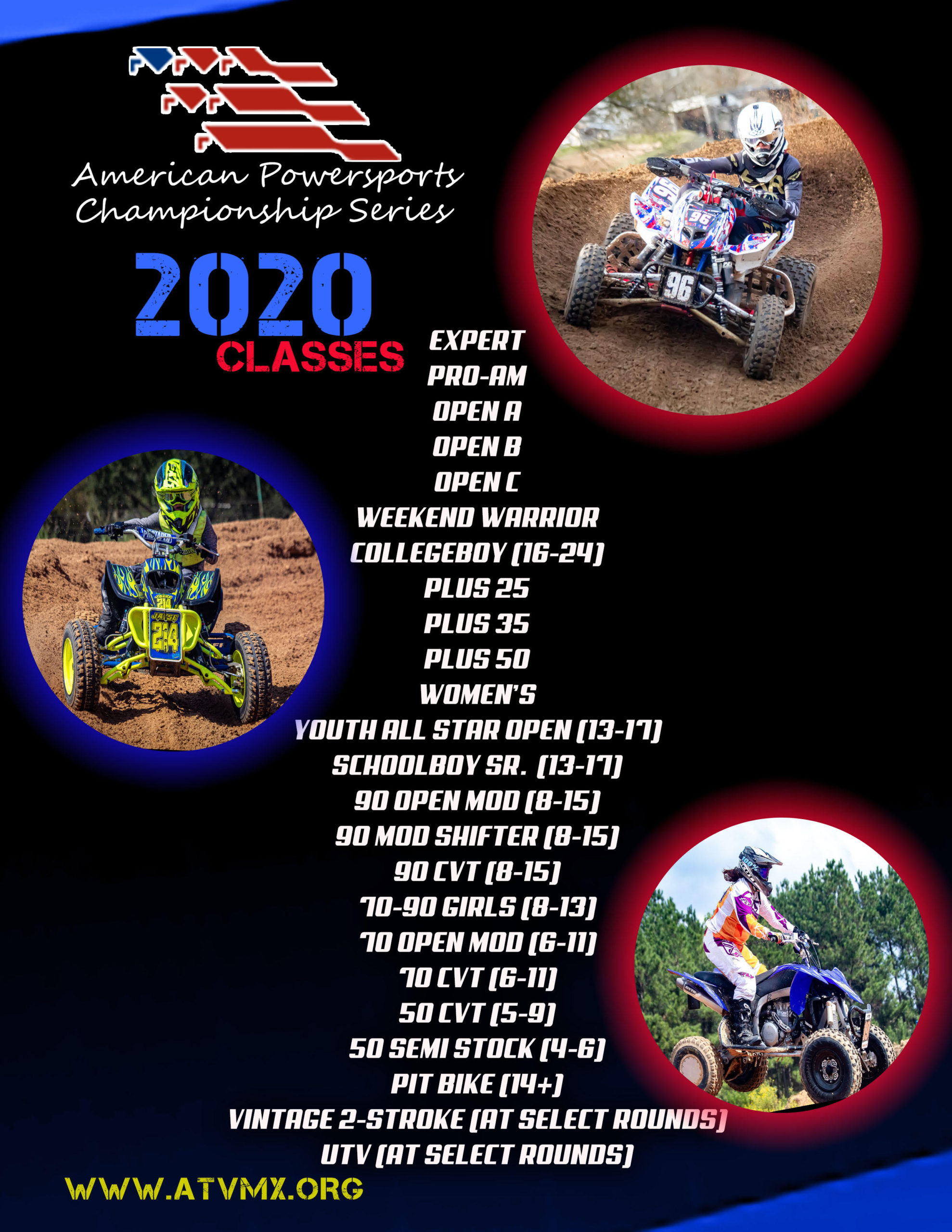 2020 Race Classes