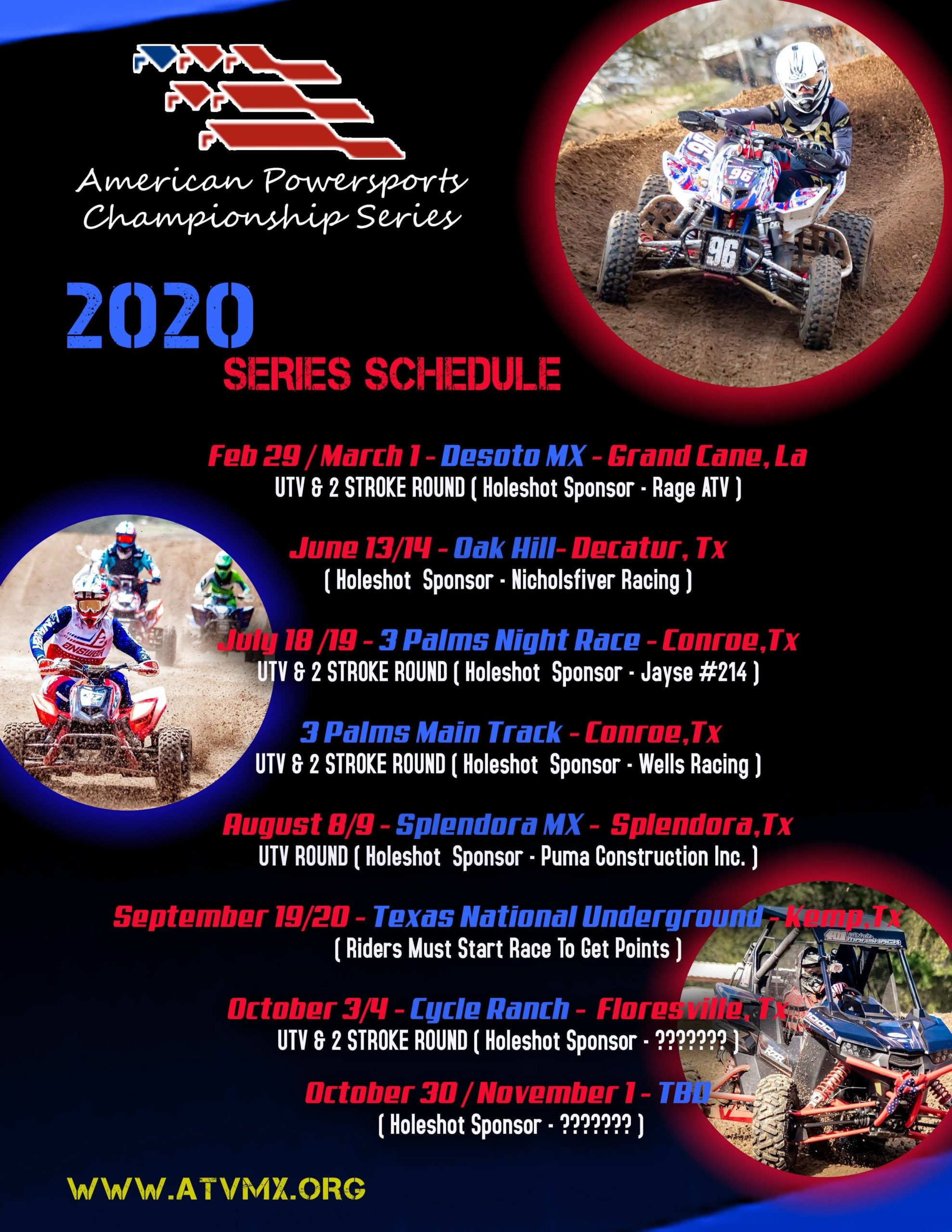 2020 UPDATED RACE ORDER