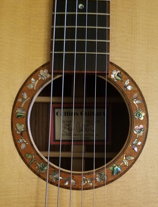 Rosette of flowers guitar