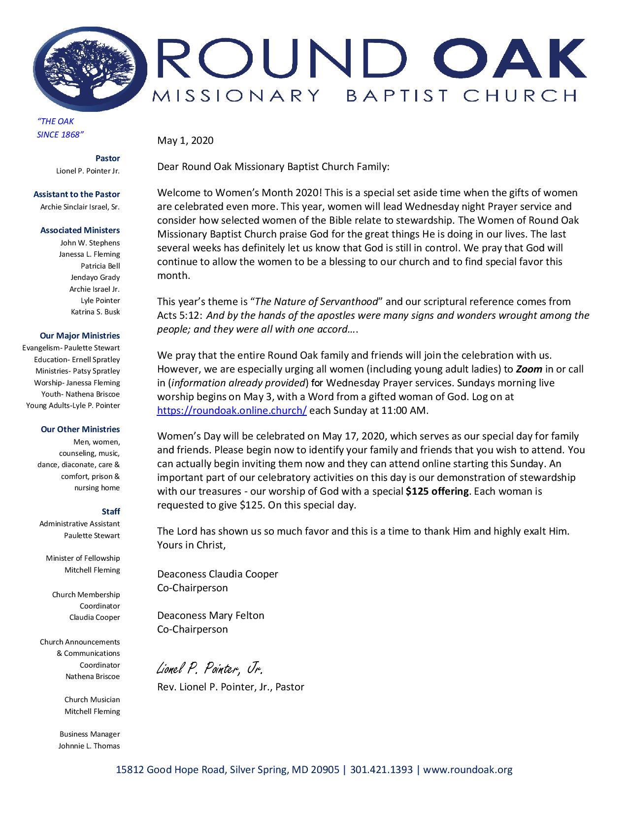 RO Women s Month Letter 2020