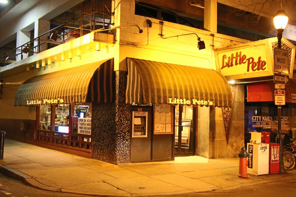 Little Pete's downtown location makes it a favorite spot for party-goers leaving local bars & lounges