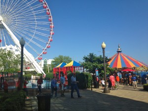 Navy Pier is a pier off of Lake Michigan in Chicago.