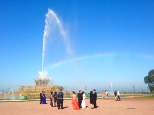 Buckingham Fountain is one of the largest fountains in the world.