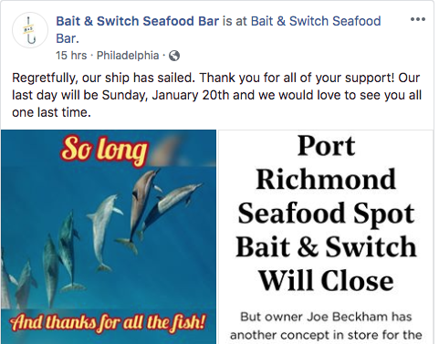bait and switch closing announcement