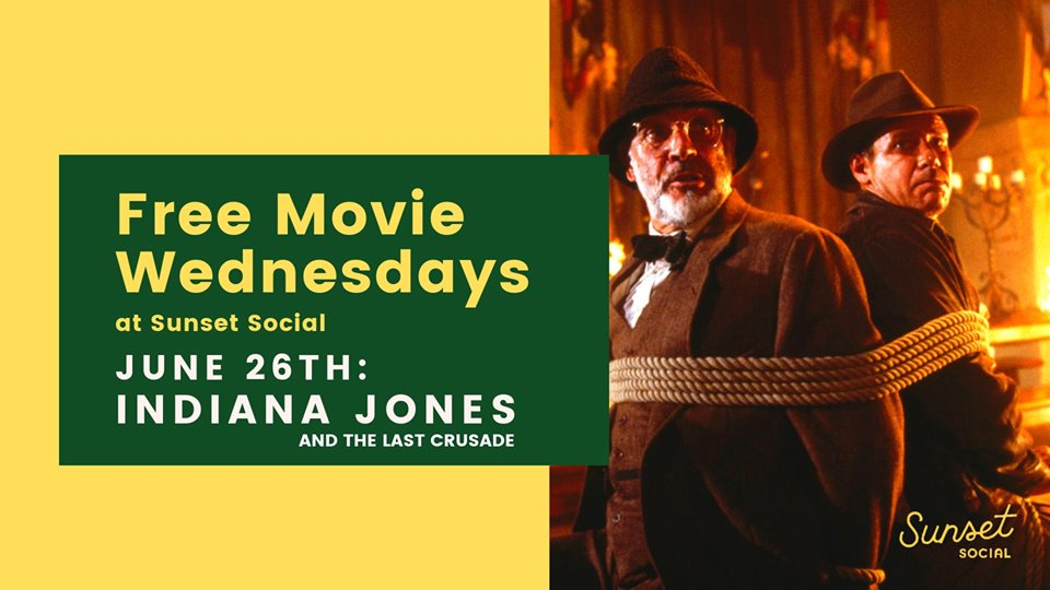 Free Outdoor Movie Night – Indian Jones and the Last Crusade