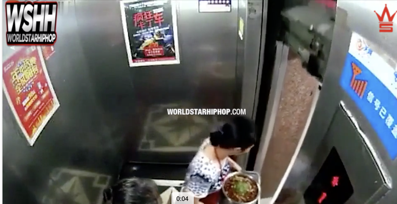 lady escapes death