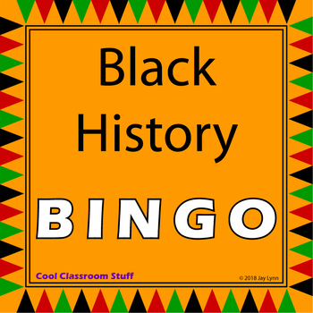 Black History Month Bingo