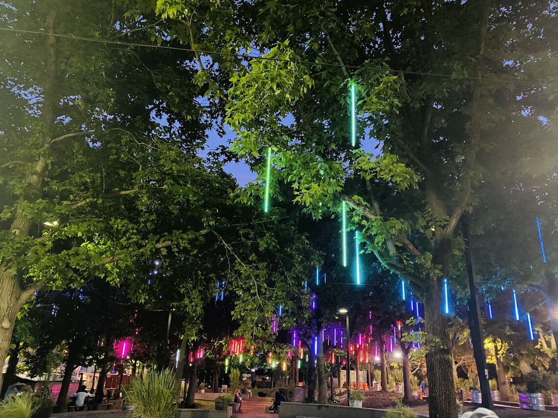 bright lights our city spruce street harbor park