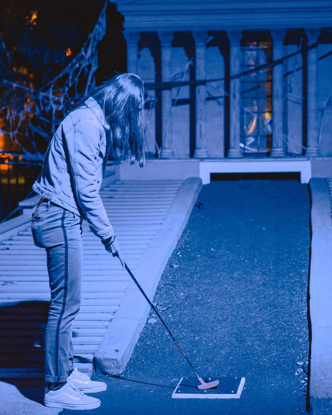 Franklin-square-spookly mini golf