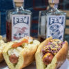 whiskey and hot dog tasting