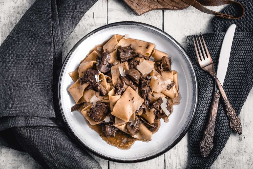 Mushrooms Braised Beef Parppadelle