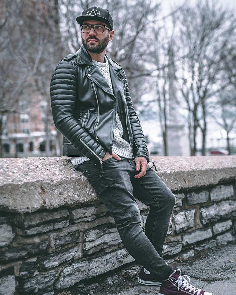 Mens Fashion Leather Jacket