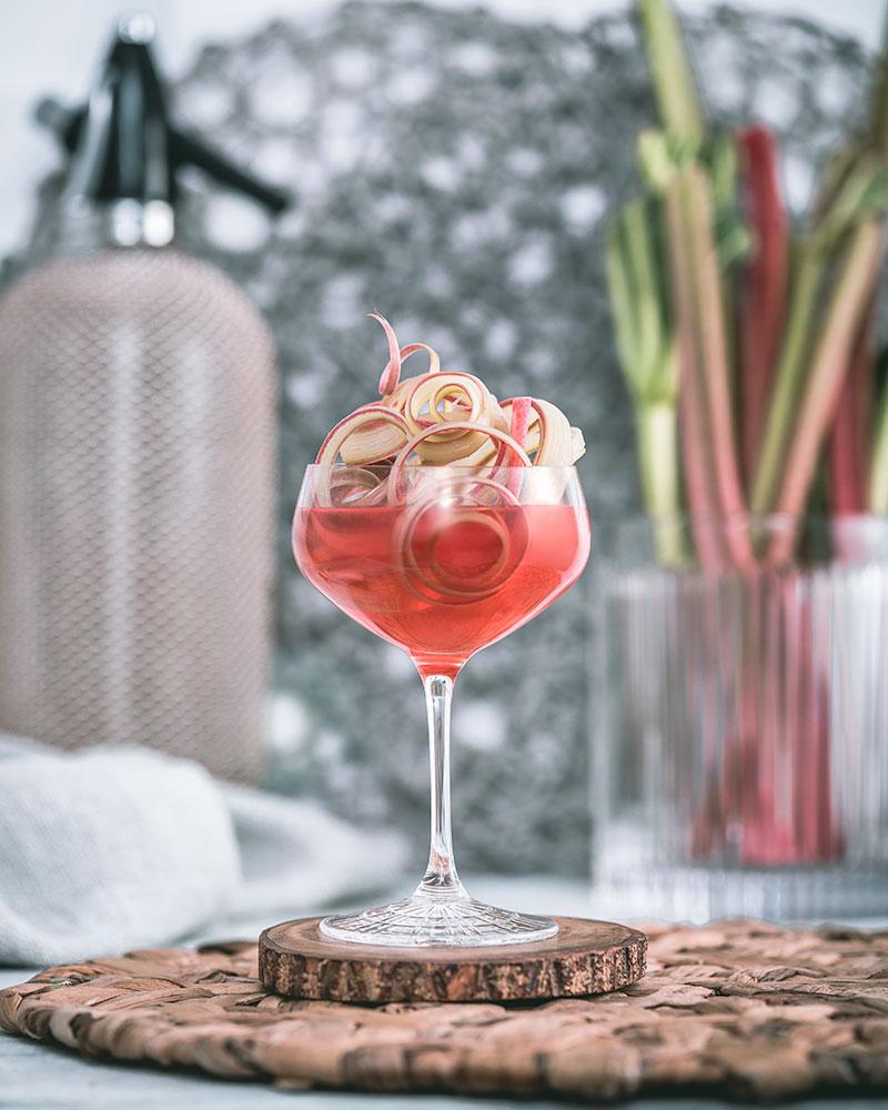 Cocktails with seasonal rhubarb