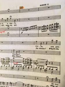 Photo of an operatic musical score