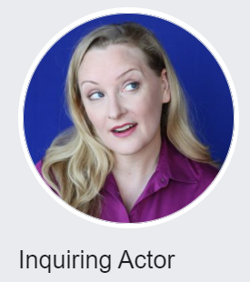 Rebecca Prescott's image as her Inquiring Actor logo