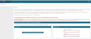 Screenshot of the PUA login system for Colorado