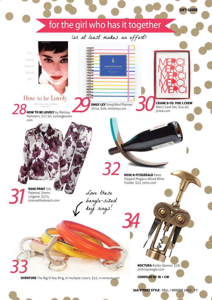 30A Street Style Holiday Gift Guide Girl Who Has It Together