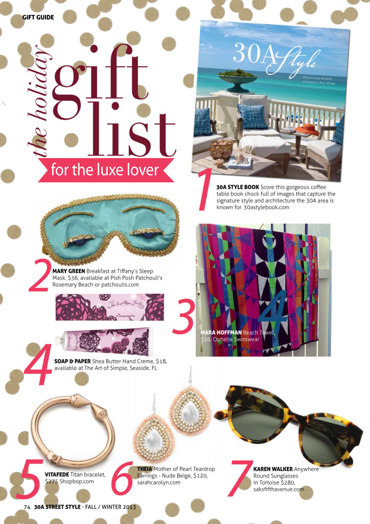 30A Street Style Holiday Gift Guide Luxe Lover