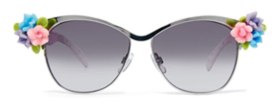 Asos Embellished Flower Retro Sunglasses