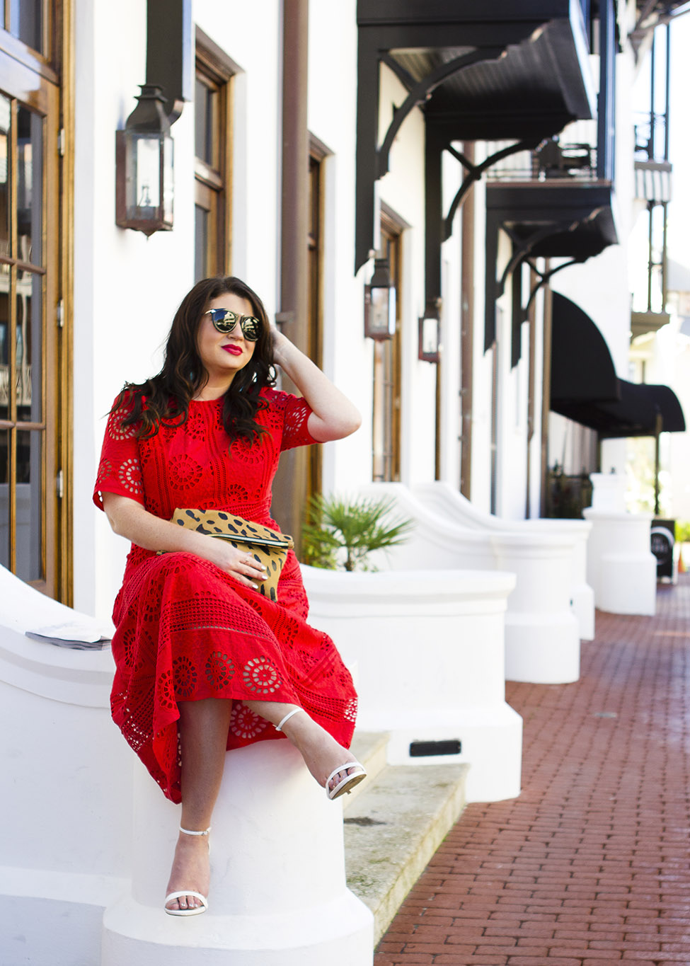 Red Midi Dress Rosemary Beach Jami Ray 30A