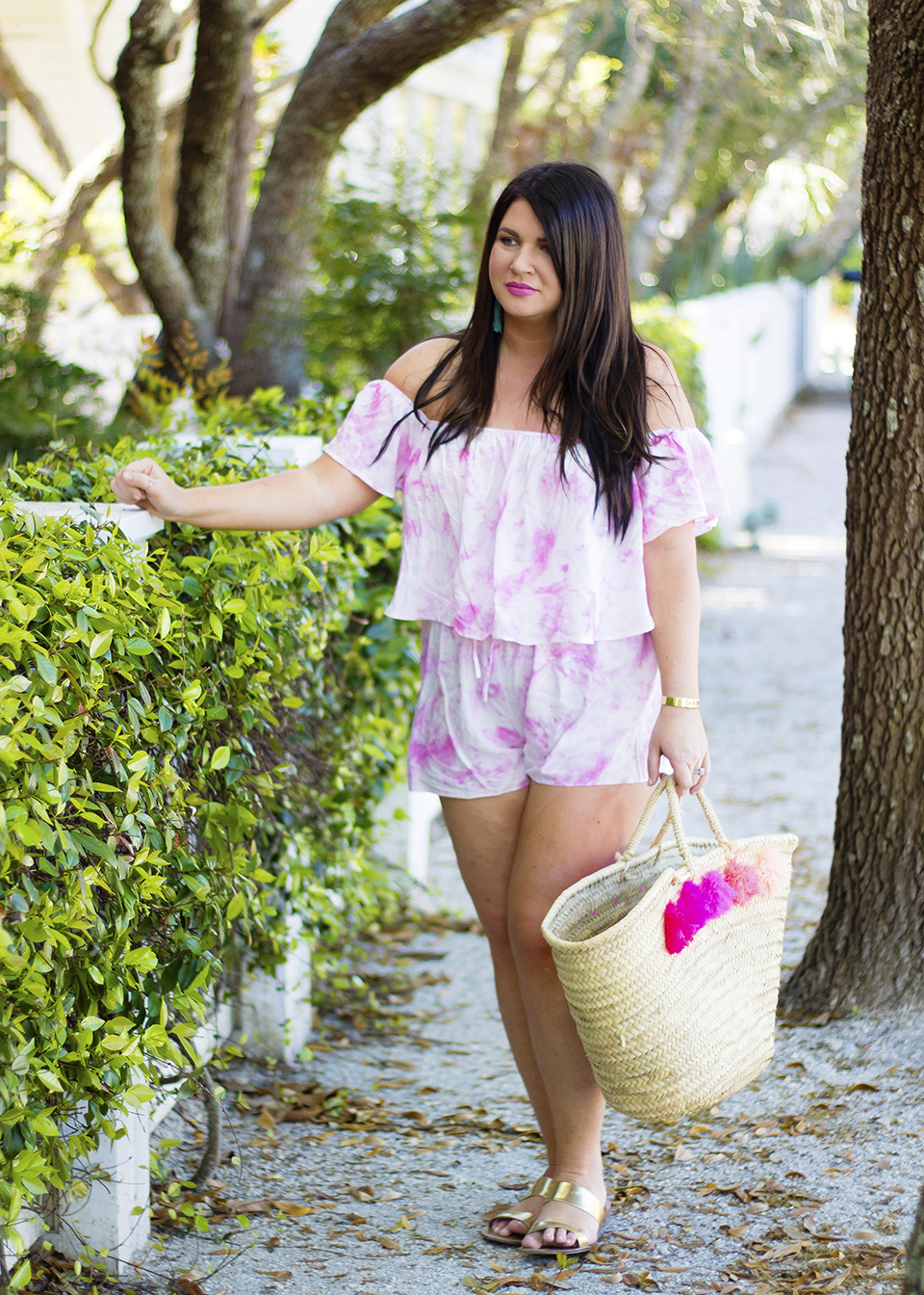 30A Street Style Jami Ray Pink Tie Dye 1
