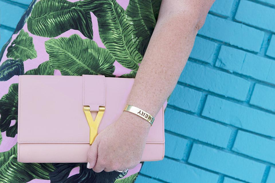 Topshop Palm Print 30A Street Style Blog YSL Leaf Print