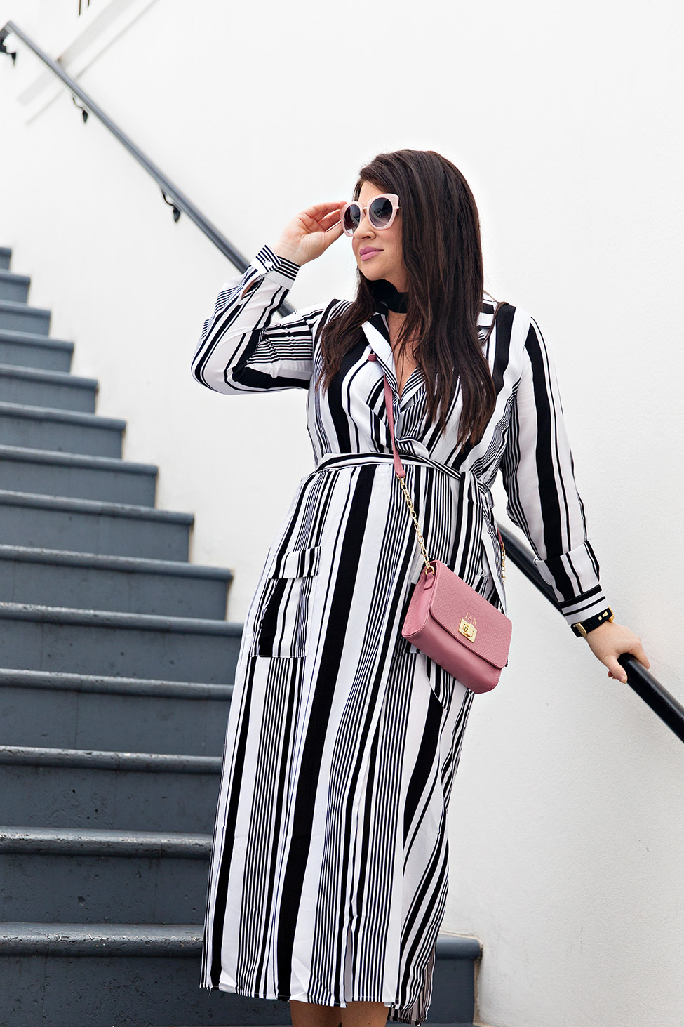 30A Street Style Jami Ray The Pearl Rosemary Beach Black and White Stripes 2