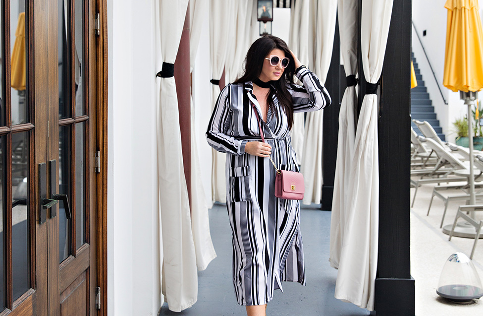 30A Street Style Jami Ray The Pearl Rosemary Beach Black and White Stripes 7