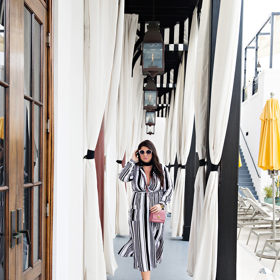 30A Street Style Jami Ray The Pearl Rosemary Beach Black and White Stripes 6