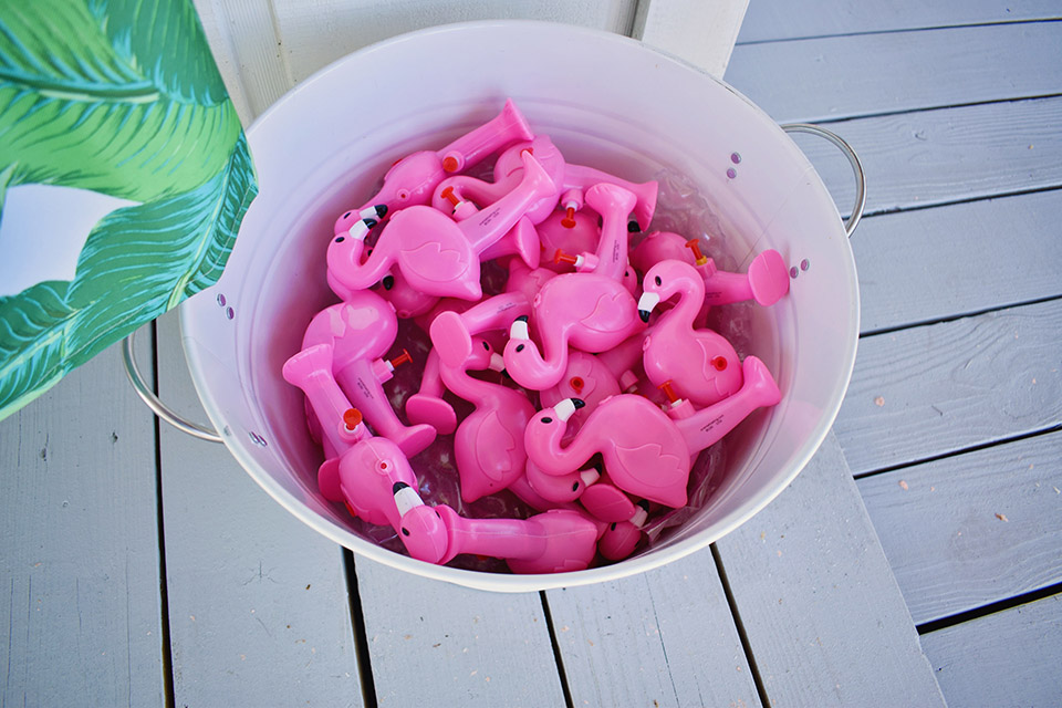 6th Birthday Flamingle - Flamingo Squirt Gun Favors