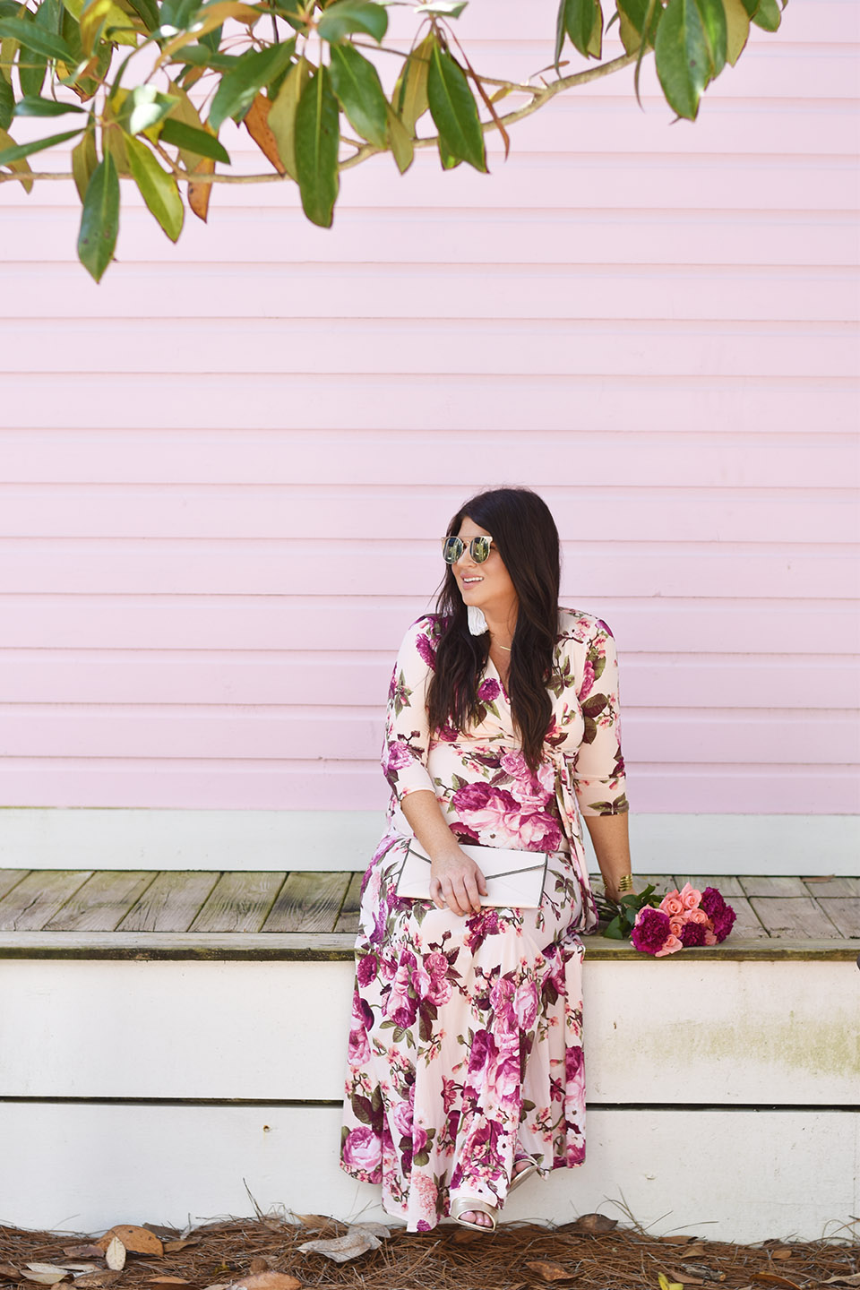 30A Street Style PinkBlush Maxi at the Seaside Pink House