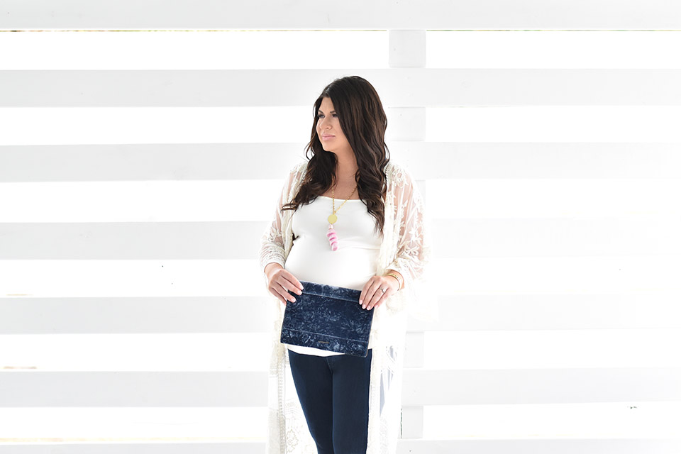 30A Mama Pinkblush Lace Duster