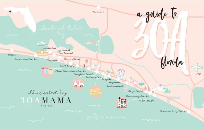 The Essential Guide to 30A – From a Local Mom on southport map, palm beach gardens map, port orange map, tops'l resort map, dune allen beach map, port richey map, destiny by the sea map, verona beach new york map, sea crest beach hotel map, sandestin map, pompano beach fl map, tidewater map, destin map, blue mountain beach map, apollo beach fl map, fernandina beach fl map, steinhatchee map, callaway map, seaside map, daybreak map,